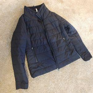 Fabletics Women's Black Puffer Jacket - Size L